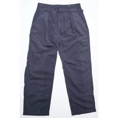 Engineered Garments Ground Pant - Dk. Navy Nyco Gangster Stripe 3MIL9XS9