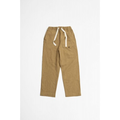 A Vontade Linen British Military Easy Trousers - Khaki Beige fashion Y8UP7TYJ