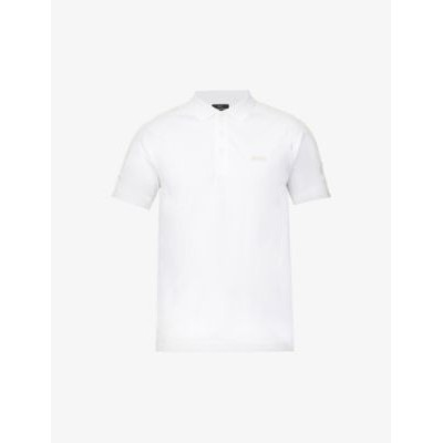 BOSS Logo-embroidered slim-fit cotton polo shirt high quality LDOR2STC