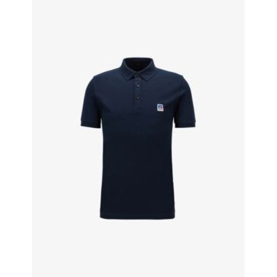 BOSS Logo-embroidered slim-fit stretch-cotton polo shirt guide Z1PI3RT6