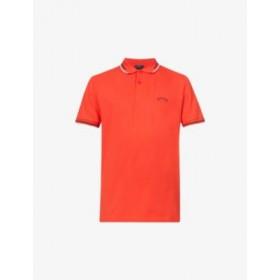 BOSS Men's Logo-embroidered slim-fit cotton-piqué polo shirt Top 5 68FWKNRA
