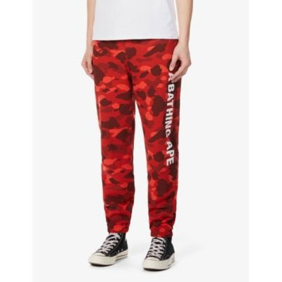 A BATHING APE Men's 1st Camo tapered cotton-jersey jogging bottoms B1D3MO68