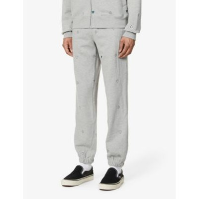 BILLIONAIRE BOYS CLUB Heart & Mind graphic-embroidered cotton-jersey jogging bottoms Trending 1RFN61NL