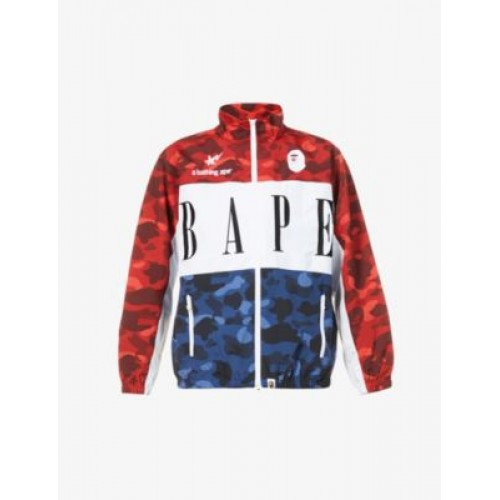 A BATHING APE Camouflage and logo-print shell track jacket Outdoors IIRKY27Y