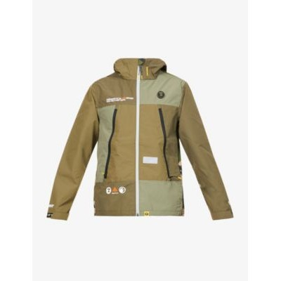 AAPE Men Graphic-print brand-badge shell hooded jacket on clearance L3M2BTBU