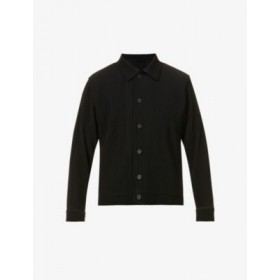 HOMME PLISSE ISSEY MIYAKE Man Pleated buttoned woven jacket XS 6ENKOWKU