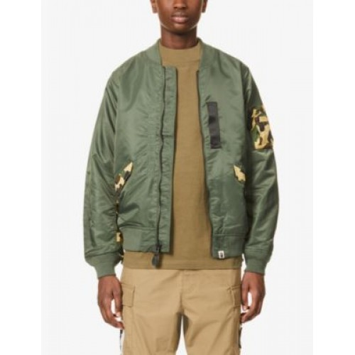 A BATHING APE 1st Camo camouflage-panel shell bomber jacket 3XL Lowest Price AG84N1B6