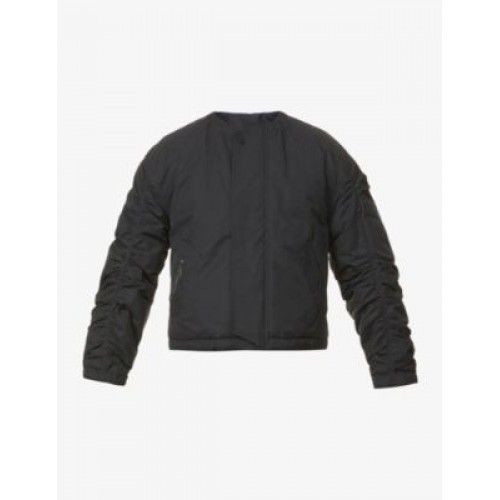 A-COLD-WALL Ruched-neckline cotton-blend bomber jacket JI13IMTA