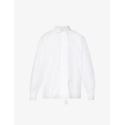 ADER ERROR Deconstructed relaxed-fit cotton shirt Fit EEJLE5CV