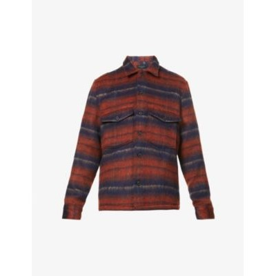 ALLSAINTS Men's Hatch relaxed-fit striped woven shirt S7346HUO