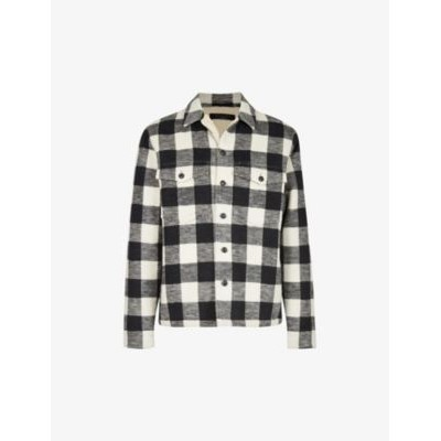ALLSAINTS Toqua sherpa-lined checked cotton shirt Big and Tall shop online YHKBY65A