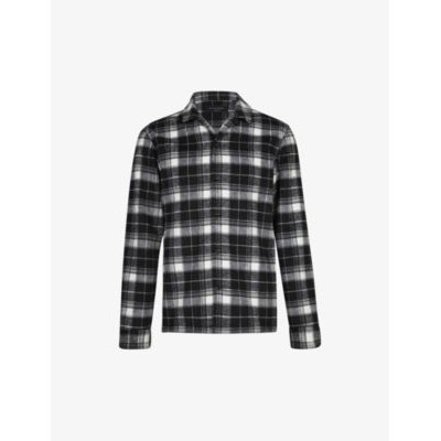 ALLSAINTS Mens Treptow check-print woven shirt Factory HTRGYY21