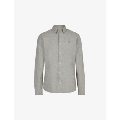 ALLSAINTS Petrel slim-fit cotton shirt Big and Tall New Arrival ZNZS4BXV