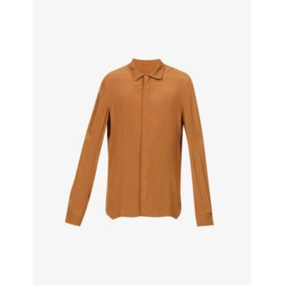 RICK OWENS Relaxed-fit crepe shirt Boutique LXFUTZ6S