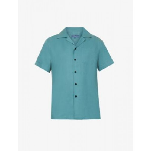 FRESCOBOL CARIOCA Men's Thomas relaxed-fit revere-collar shirt in new look 5J7OSU3O