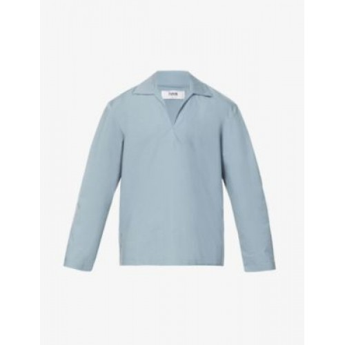 IVAN CLOTHING Men's Long-sleeve upcycled cotton top Factory in new look 7PVXBBCI