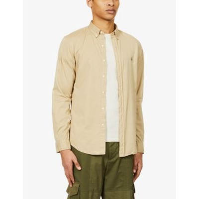 POLO RALPH LAUREN Mens Pony-embroidered slim-fit garment-dyed cotton shirt Big and Tall Clearance G2R1EFGA