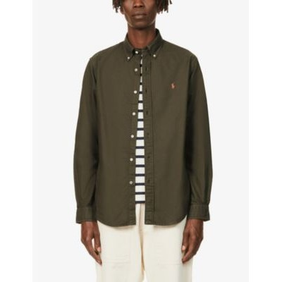 POLO RALPH LAUREN Pony-embroidered custom-fit garment-dyed cotton Oxford shirt New Style 1U3R4ZEF