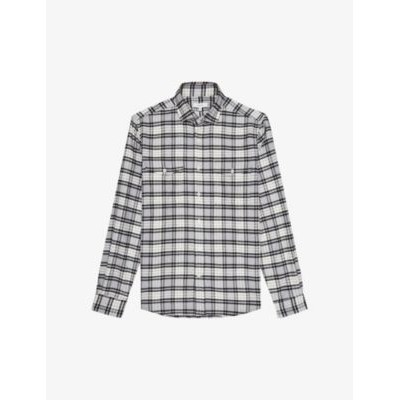 REISS Dashand checked regular-fit cotton shirt Recommendations YS2M1V6K