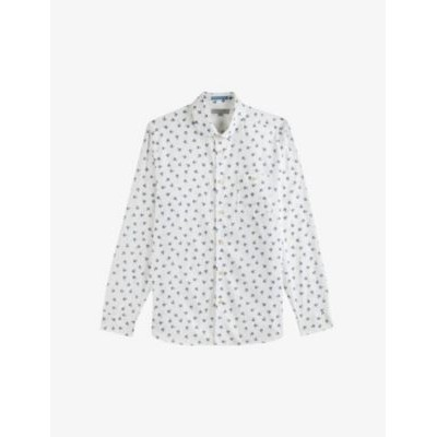 TED BAKER Costar floral-print stretch-cotton shirt The Top Selling KQD65FXS