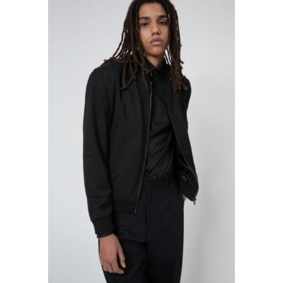 Extra-slim-fit bomber-style jacket in super-flex fabric Black Cheap 50444929