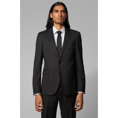 Man Extra-slim-fit jacket in pure wool Black Collection 50318525