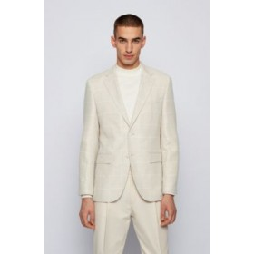 Man Regular-fit jacket in checked cloth White 50451196