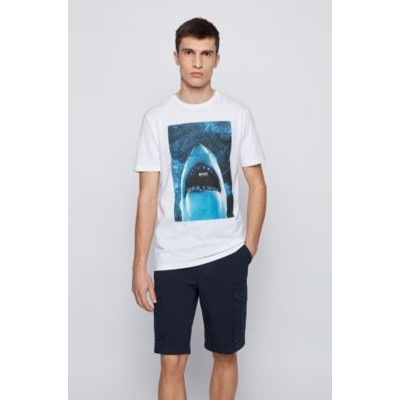 Cotton-jersey T-shirt with underwater print White The Best Brand 50450911