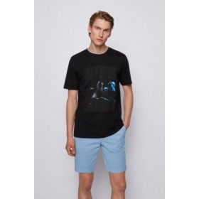 Cotton T-shirt with glow-in-the-dark print Black 50453648