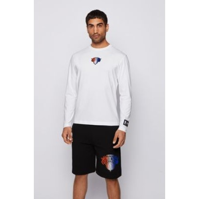 Long-sleeved T-shirt from BOSS x NBA with team logo White 50456540