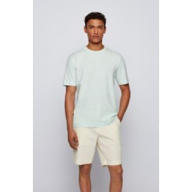 Man Relaxed-fit T-shirt in stretch cotton with layered logo Light Green 50418749