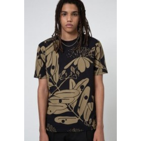 Men Crew-neck T-shirt in cotton jersey with collection print Black 50443929