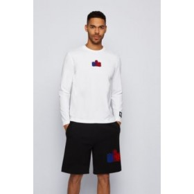 Mens Long-sleeved T-shirt from BOSS x NBA with team logo White 50456540