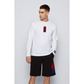 Mens Long-sleeved T-shirt from BOSS x NBA with team logo White Discount 50456540