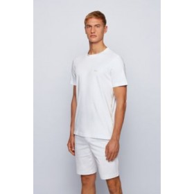 Mens Regular-fit T-shirt with gold-tone logos White 50448686