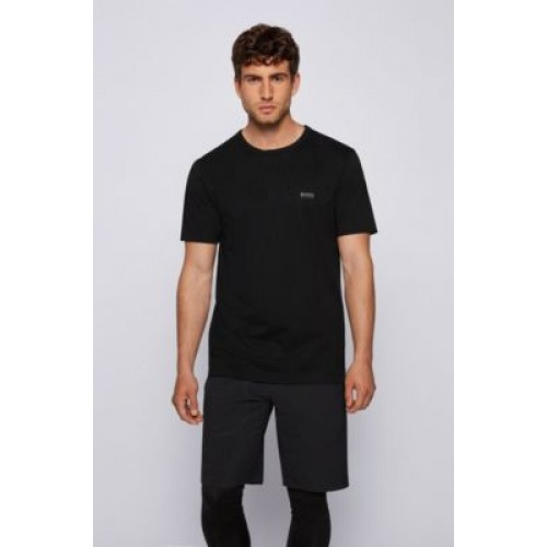 Regular-fit T-shirt with contrast detail Black 50245195