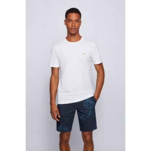 Regular-fit T-shirt with contrast detail White most comfortable 50245195