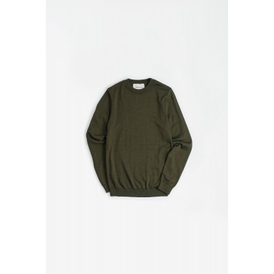 A Kind of Guise Permanents Crewneck - Olive 1EHACN40
