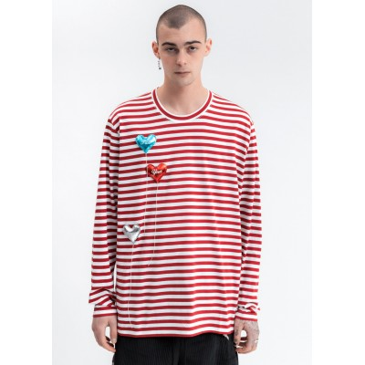 Doublet Happy Balloons Long Sleeve T-Shirt - White/Red 2XL PQ1IEN0E