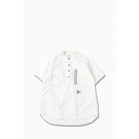 And Wander Laser Hole Over Dry Short Sleeve Shirt - White expres N29GDPJC