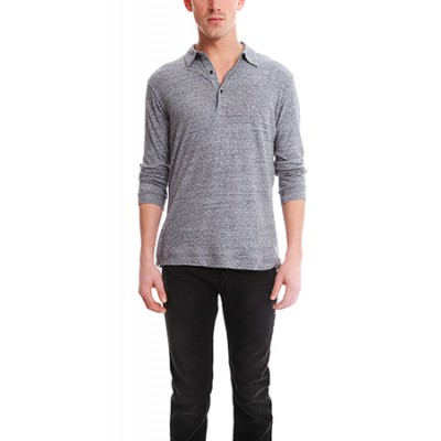 Blue&Cream Further Polo Top - Charcoal DY010Q7F