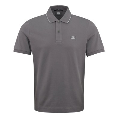 C.P. Company Tipped Polo Shirt - Charcoal new in 97YI28LC