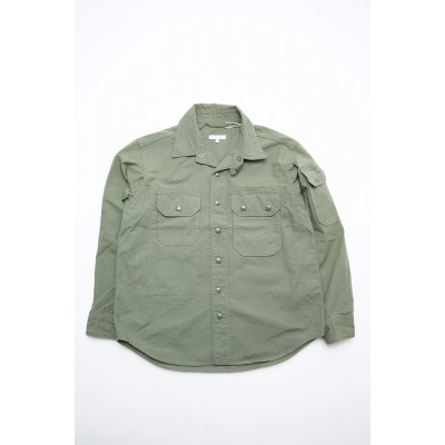 Engineered Garments Field Shirt Jacket - Olive Cotton Ripstop Factory EWVDEOQE